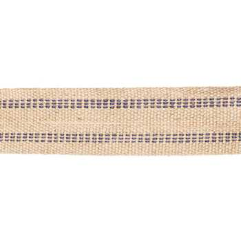 Natural & Blue Jute Webbing Trim